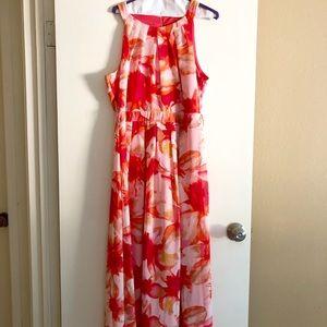Maxi Orange Toned Dress